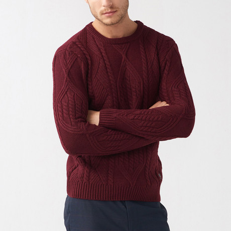 Trey Tricot Sweater // Claret Red (S)