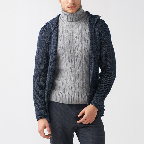 Bud Wool Tricot Cardigan // Dark Blue (S)