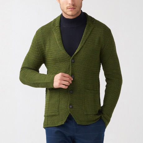Olen Wool Tricot Jacket // Green (S)