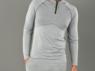 Photo of 1700K Athleisure Collection Illuminating Sportswear  K-Wear Mens Quarter-Zip Top // Smoked Pearl (M) by Touch Of Modern