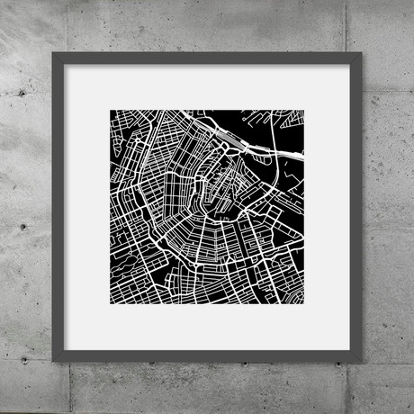 Amsterdam // Poster (Black)