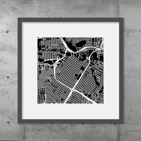 Houston // Poster (Black)