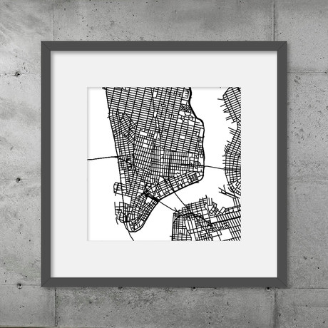 New York City // Poster (Black)