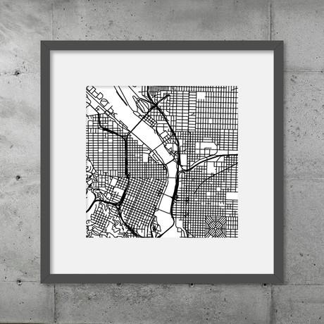Portland // Poster (Black)