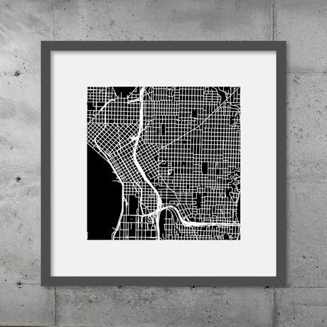 Seattle // Poster (Black)