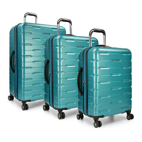 Traveler's Choice Ritani 3-Piece Hardside Spinner Luggage Set, Teal (Teal)