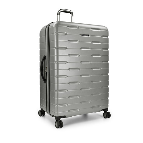 "Traveler's Choice Ritani 30"" Hardside Expandable Spinner, Silver (Silver)"