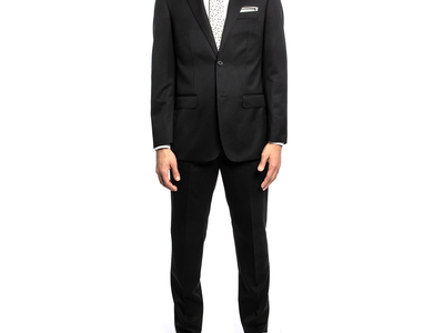Photo of Michael Bastian Suits From New York City  2BSV Wide Notch Lapel Suit // Black (36S) by Touch Of Modern