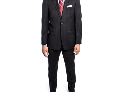 Michael Bastian Suits From New York City  2BSV Wide Notch Lapel Suit // Navy Pinstripe (36S) by Touch Of Modern - Denver Outlet