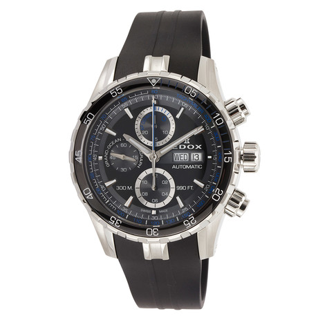 Edox Grand Ocean Chronograph Automatic // 01123 3BUCA NBUN // New