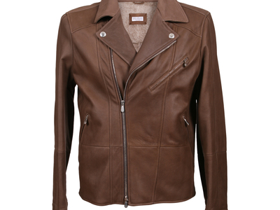 Photo of Brunello Cucinelli Designer Leather Jackets & Vests Radagast Fur Lining Leather Jacket // Brown (XL) by Touch Of Modern