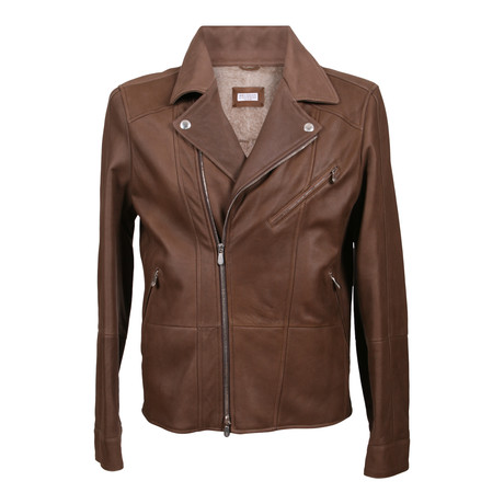 Radagast Fur Lining Leather Jacket // Brown (XS)