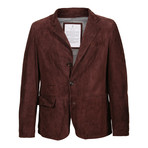 Frodo Suede Leather Jacket // Burgundy (L)