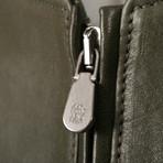 Legolas Leather Puffer Coat Jacket // Green (XS)