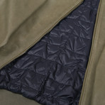 Legolas Leather Puffer Coat Jacket // Green (XL)