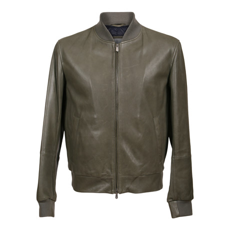 Legolas Leather Puffer Coat Jacket // Green (XS)