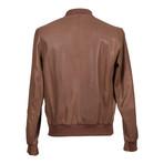 Samwise Reversible Leather Jacket // Brown + Gray (XS)