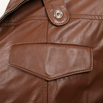 Boromir Leather Jacket // Brown (XS)