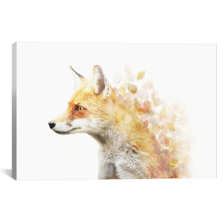 "Winter Foxy // Emanuela Carratoni (18""W x 26""H x 0.75""D)"
