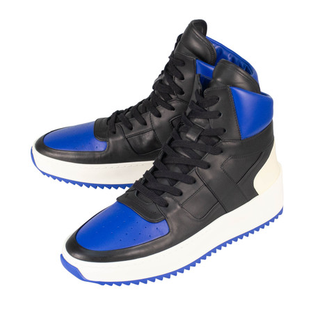 Fear Of God // Basketball High-Top Sneakers // Black + Blue (US: 6)