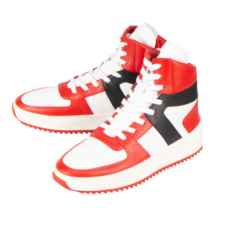 Fear Of God // Varsity Basketball High-Top Sneakers // Red + White (US: 6)