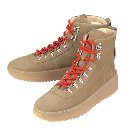 Fear Of God // Nubuck Hiking High-Top Sneakers // Stone (US: 6)