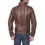 Darrell Leather Jacket // Brown (L)