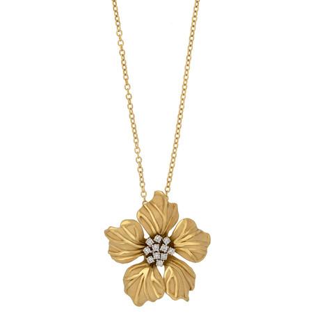 Annamaria Cammilli Orchidea 18k Yellow Gold Diamond Pendant