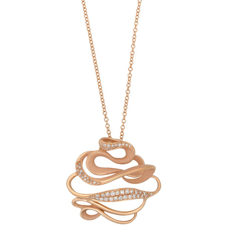 Annamaria Cammilli Onda 18k Rose Gold Diamond Pendant