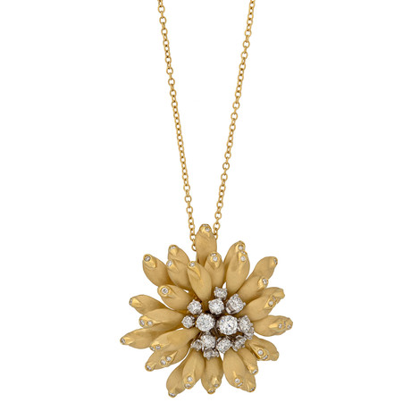 Annamaria Cammilli Xenia 18k Yellow Gold Diamond Pendant