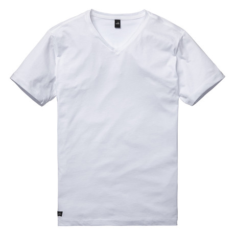 Harvey High V Neck T-Shirt // Retro White (S)