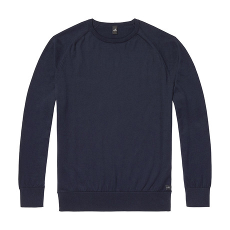 Cross Egyptian Cotton Sweater // Navy Blue (S)