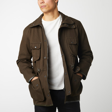 Quilted Twill Parka // Olive (S)