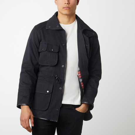 Quilted Twill Parka // Charcoal (2XL)