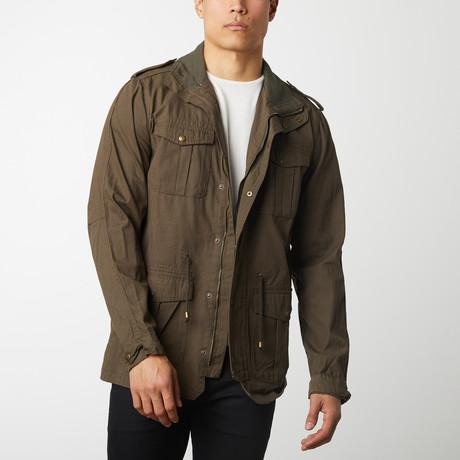 Cotton Safari Jacket // Olive (S)