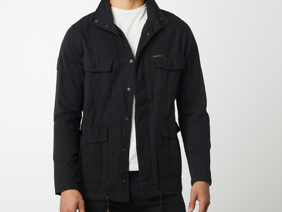 Photo of Limon Co. Beat The Chill In Style Cotton Canvas Field Jacket // Black (M) by Touch Of Modern
