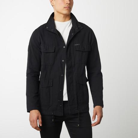 Cotton Canvas Field Jacket // Black (S)