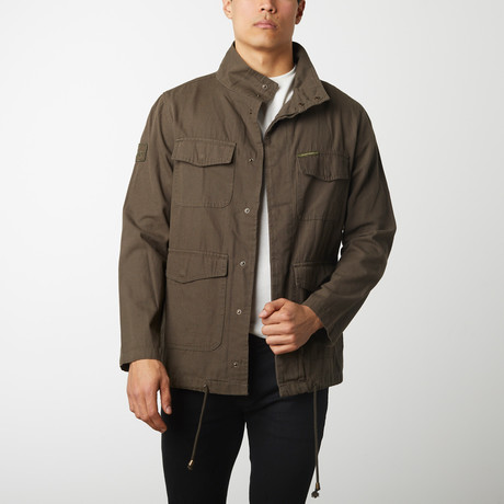 Cotton Canvas Field Jacket // Olive (S)