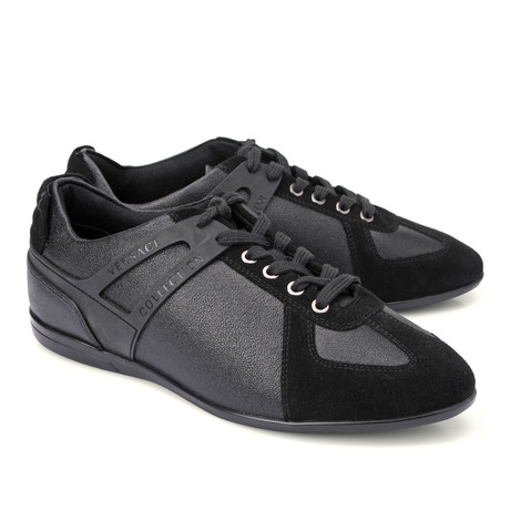 Lace-Up Logo Fashion Sneaker // Black (Euro: 39)