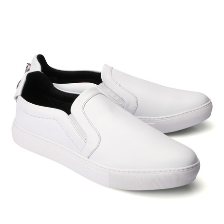 Leather Slip On Loafer // White (Euro: 39)
