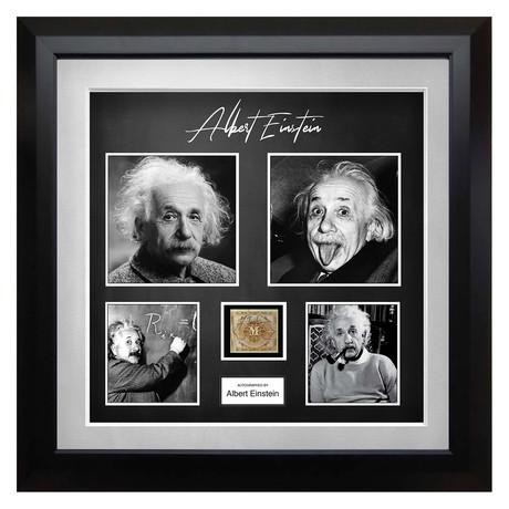 Signed + Framed Currency Collage // Albert Einstein