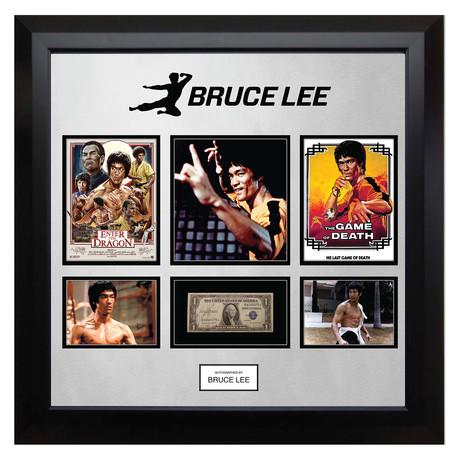 Signed + Framed Currency Collage // Bruce Lee