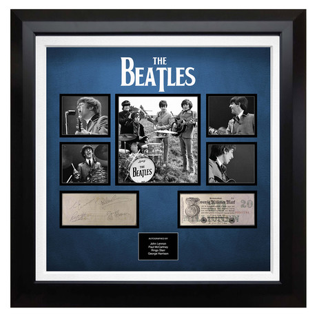 Signed + Framed Currency Collage // The Beatles