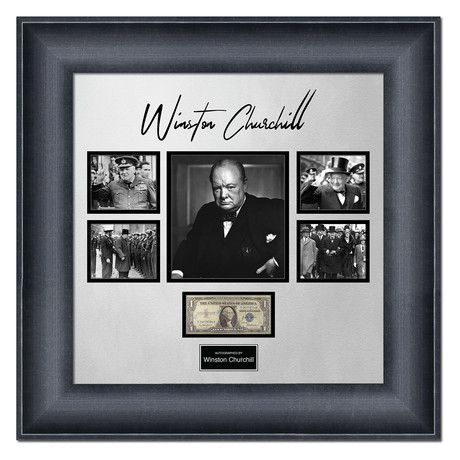 Signed + Framed Currency Collage // Winston Churchill