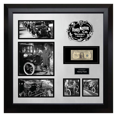 Signed + Framed Currency Collage // Henry Ford