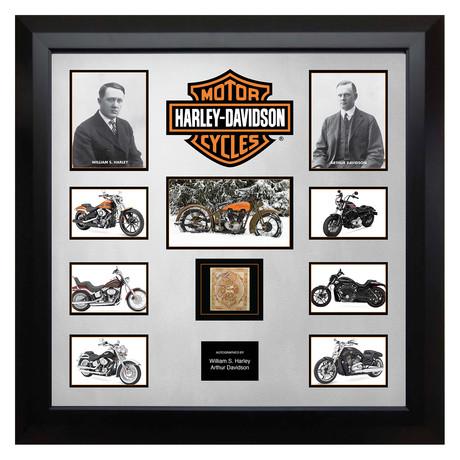Signed + Framed Currency Collage // Harley Davidson