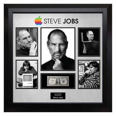 Signed + Framed Currency Collage // Steve Jobs