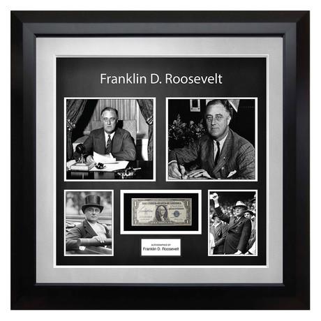 Signed + Framed Currency Collage // Franklin D. Roosevelt
