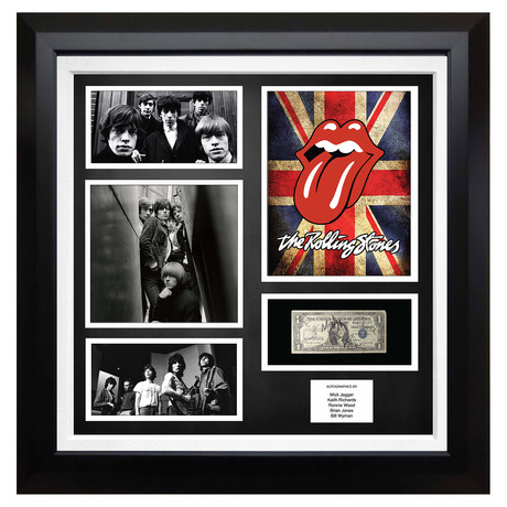 Signed + Framed Currency Collage // The Rolling Stones