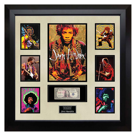 Signed + Framed Currency Collage // Jimi Hendrix